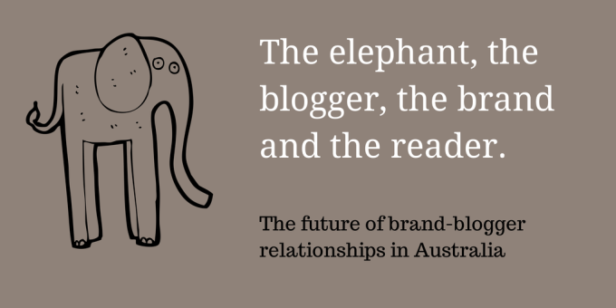 The elephant, the blogger, the brand and